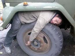 So tired I couldn't even make home from my car. And yes I drive an army truck so deal with it.
