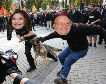 And that's how Heidi prevented Ron from doing another dog impersonation.