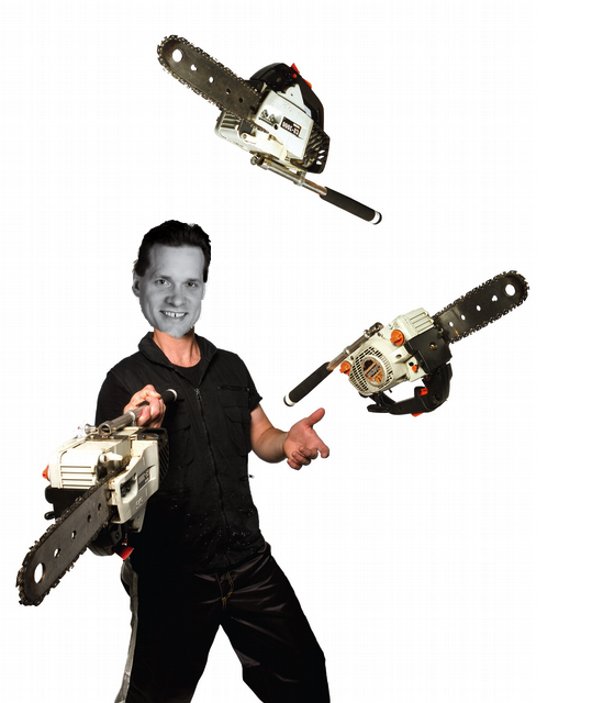 And why juggling gets Bill neutral. Chainsaws preferred.